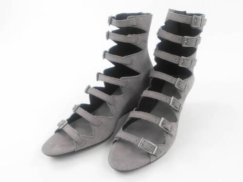 Shoe Biz Sandalen Schuhe Allerord grau Keilabsatz Leder