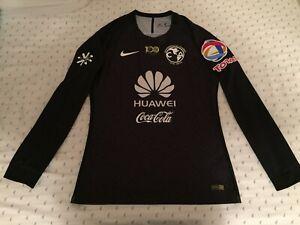 new product 650a8 d8452 Details about 2016-17 Nike Club America Centenario Black Goalkeeper Portero  Jersey Utilería