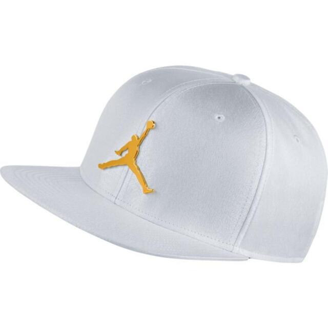 4b8334ed84e Air Jordan White Jumpman Snapback Hat Elephant Print Pro Flat Bill Ingot  Retro