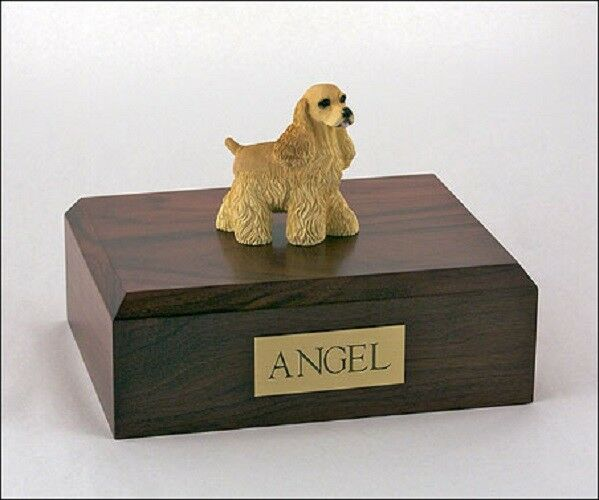 Cocker Spaniel Pet Funeral Cremation Urn Available in 3 Diff Colores & 4 Dimensiones