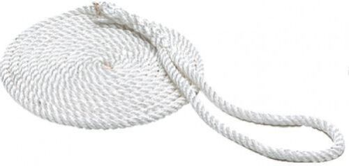 """1//2/"""" x 15ft Twisted Nylon Dock Line Boating Tie Down to Cleat for Boat"""