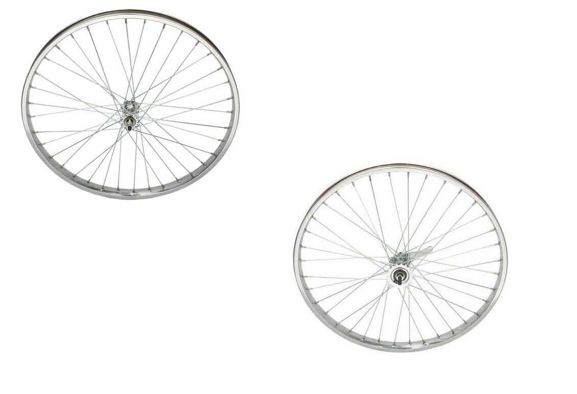 26  x 2.125 Steel Wheelset 12G Heavy Duty Spokes Lowrider Cruiser Bikes