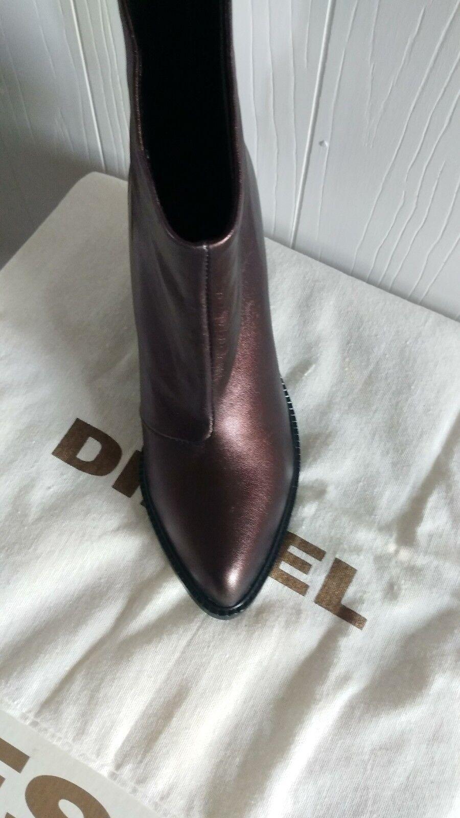 Nuevo Diesel musikalls ozys ozys ozys mujer cuero metálico Tobillo botas Zapatos Talla 37 (7) d273f5