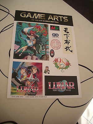 >> ALISIA DRAGOON LUNAR 1 2 I II MEGADRIVE GAMEARTS ORIGINAL JAPAN STICKERS! <<