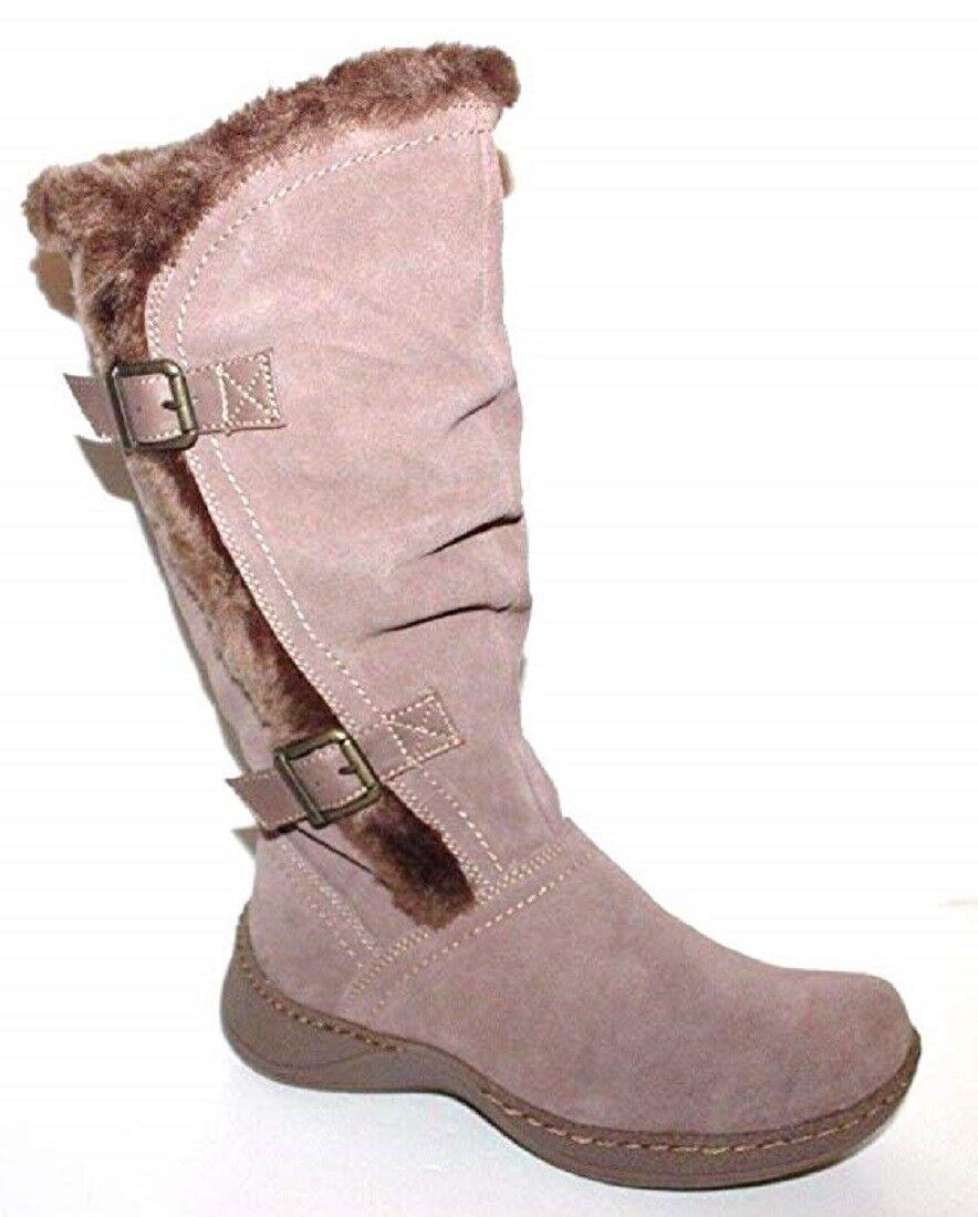 GH Bass NIB Women Wanda 6 6.5 7 Beige Fur Lined Snow Boots Water Resistant