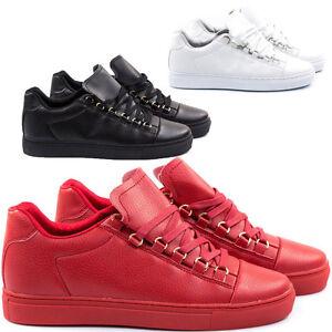 Scarpe-Uomo-Sneakers-Pelle-PU-Stivali-Francesine-Mocassini-Ginnastica-Anfibi-S3