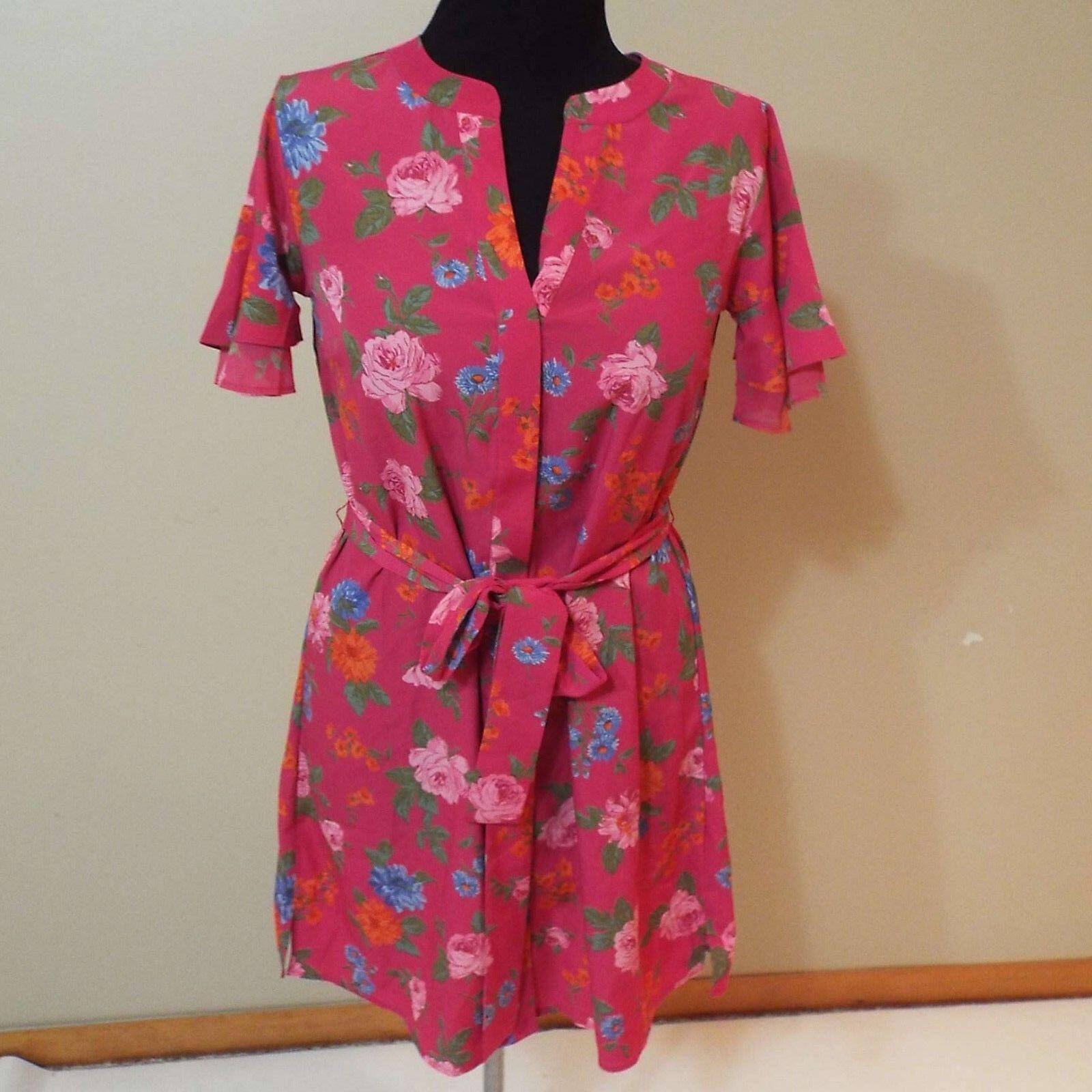 Ann Taylor pink flower print dress NWT size xs free shipping