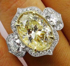 Fashion Women 925 Silver Citrine Gemstone Rings Engagement Anniversary Jewelry