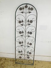 Wrought Iron Floral Trellis Pretty Metal Support for Vines & Garden Flow 72x24