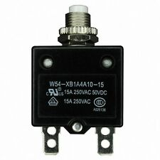 W54-XB1A4A10-35 Circuit breaker 1 pole push to reset M11 thread 1/4in Quick conn