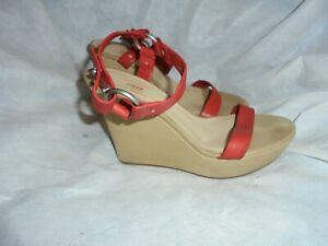 Red 7 Collezione Vgc Buckle 40 Armani Sandal Strap Size Donna Eu Uk Leather 4OOE1z
