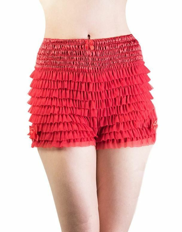 Burlesque Frilly Can Can Knicker with lots of layers Frou-frou S to Xtra Large