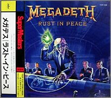 """MEGADETH """"Rust In Peace"""" CD Japan w/obi Reissue 1993 Capitol Records TOCP-7638"""