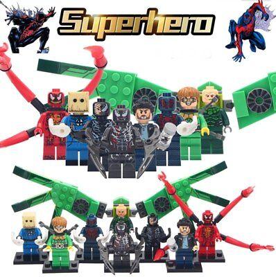 Lego Custom Spiderverse Spiderman DC Comics Hero Movie Block Toys 8 characters