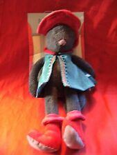 "Rare  Moulin Roty "" puss in boots "" soft toy 15"" still on packaging rrp $89"