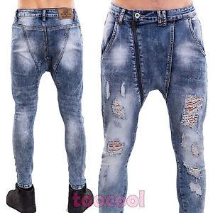 2c27dc48a540e Jeans uomo pantaloni skinny elasticizzati aderenti cavallo basso ...