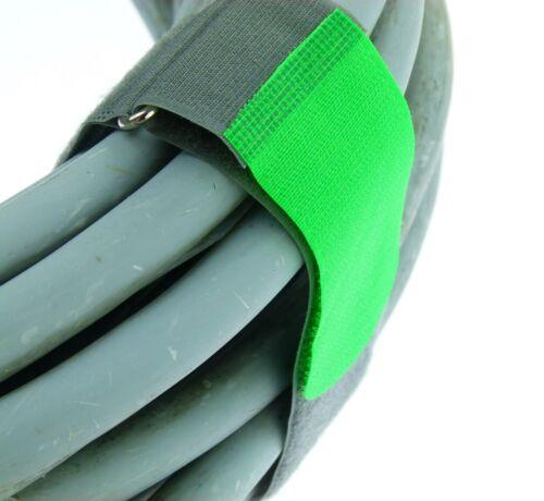 20x Kabelbinder Kabelklett 50 cm x 50 mm neon grün FK Klettband Klettkabelbinder