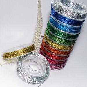 METALLIC - Nylonband *10m* Rolle FARBWAHL * 1mm * SCHNUR Lame Kordel (0,29€/lfdm