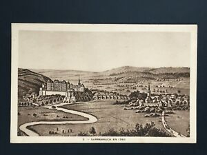 Postcard-Antique-1927-Saar-Saarbruck-IN-1760