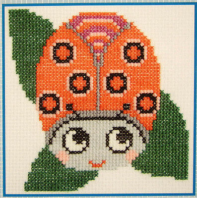 Ladybird Beetle - Lady Bug - Mini easy-to-do counted cross-stitch kit