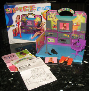 Vintage-1998-Spice-Girls-Sound-Stage-Galoob-23506-Recording-Studio-EUC-Complete