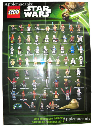"""NEW LEGO Star Wars 75020 Jabba/'s Sail Barge Poster 33/""""x23/"""" Dual-Sided Minifigure"""