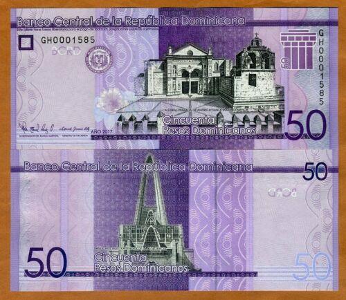 Dominican Republic 200 Pesos Dominicanos p-191 2017 UNC Banknote 2019