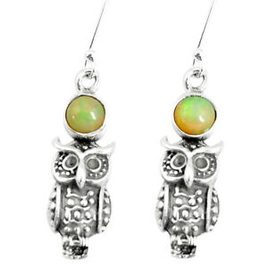 black-friday-sale-2-52cts-natural-ethiopian-opal-owl-earrings-jewelry-p5491