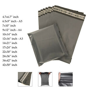 Strong-Mailing-Bags-Large-Medium-Small-Grey-Plastic-Postage-Postal-Mail-UK