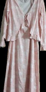 42 44, Ma douce femme chemise de nuit manches longues avec motif floral différentes couleur T L