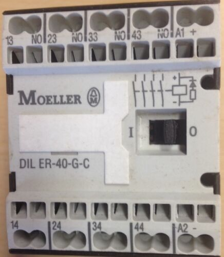 Schütz DILER-40-G-C 24V//DC,HK 4 Schließer OVP,DIL ER-40-G-C Moeller Hilfs