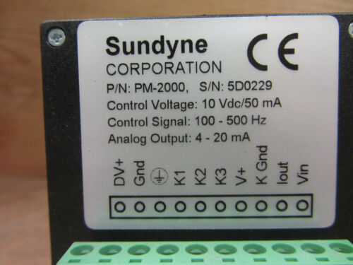 Sundyne PM-2000 PM Series Power Monitor Used CSQ