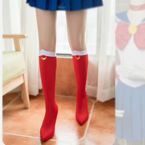 Sailor Moon Tsukino Usagi Cosplay Socks Costume Knee High Boots Cover Shoes Case
