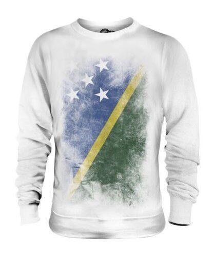 SOLOMON ISLANDS FADED FLAG UNISEX SWEATER TOP SOLOMON AELAN SHIRT JERSEY GIFT