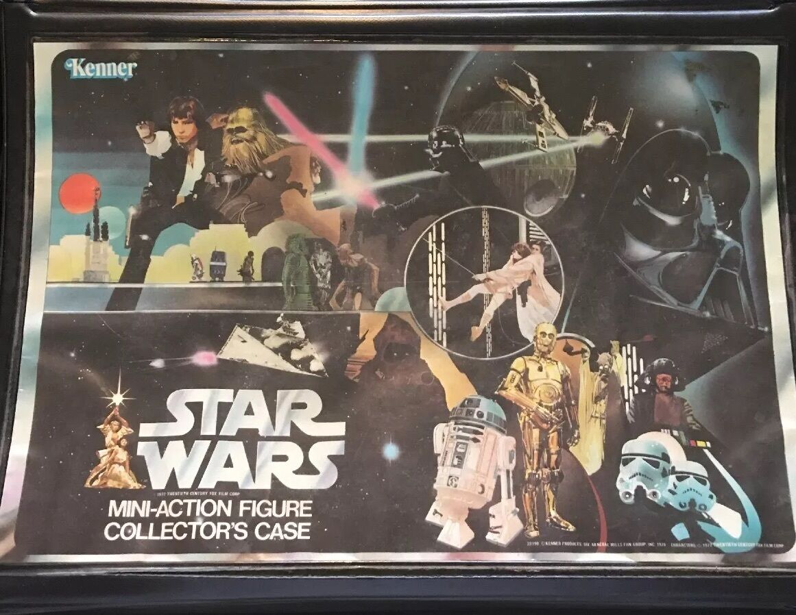 Star Wars Mini Action Figure Case With Figures