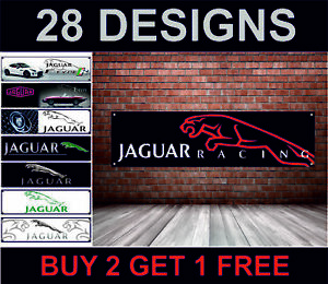 Jaguar-Racing-Banner-per-Officina-Garage-Men-Cave-Retro-Meccanico-Poster