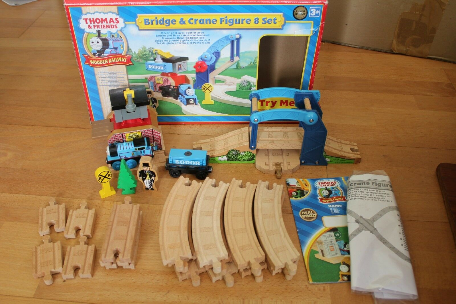 THOMAS the Tank Engine Bridge & Crane Figure 8 Set, Holzen railway Holzeisenbahn