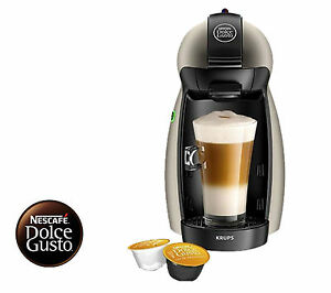Details About Nescafe Dolce Gusto Manual Coffee Machine By Krups Titanium L 1 Year Warranty