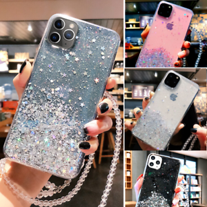 iPhone-SE-2020-7-8-Glitter-Clear-Case-Shockproof-UltraThin-Cover