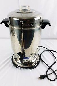DeLonghi DCU72 20-60 Cups Coffee Maker - Stainless Perculator Urn (CR A55) eBay