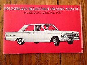 1962 ford fairlane factory original owners manual mint and blank rh ebay com 1963 Ford Fairlane 1968 Ford Fairlane
