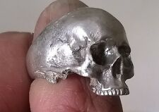 Half jaw skull ring silver ring  amazing detail 925 sterling hallmarked UK made