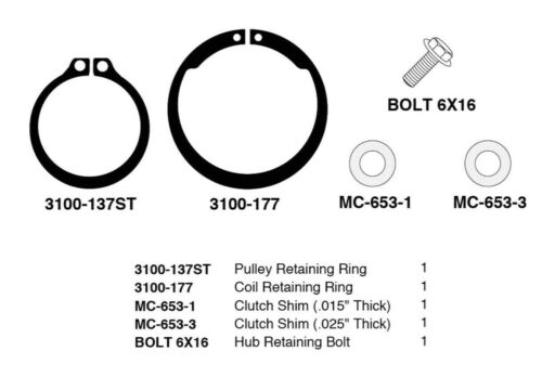 A//C Compressor Clutch Installation Kit Fits DELPHI OPEL CVC