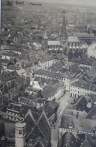 Feldpostkarte-GAND-GENT-Panaorama-s-Scan-gel-1918-gut-erhalten