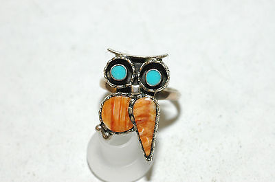 Beautiful Ladies 11 stone Zuni inlay ring Sterling SIlver signed
