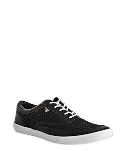 Men-039-s-Gola-March-Lace-Up-Mesh-Sneaker-Black-White