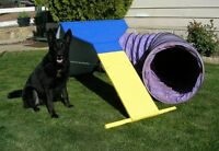 Dog Agility Contact Trainer & 12' Tunnel Equipment Set