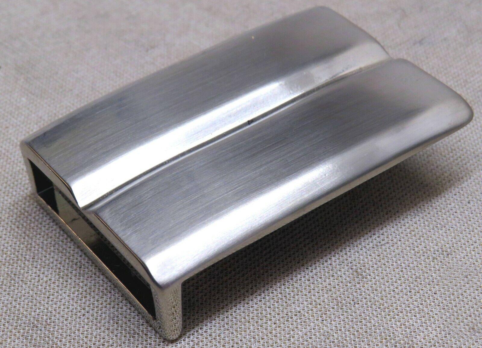 Gürtelschnalle NEU Metall STABIL f. 4cm breite GÜRTEL Farbe: MATTSILBER Elegant#