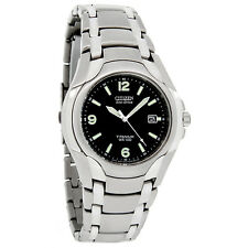 Citizen Eco-Drive Mens 180PR Black Dial Titanium Watch BM6060-57F