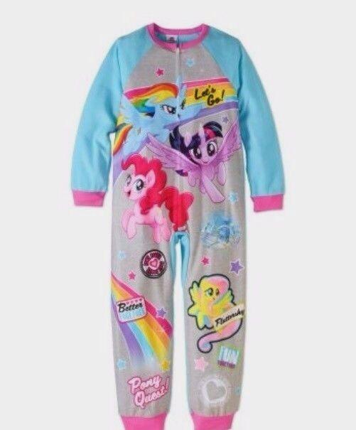My Little Pony Rainbow Dash Adventure Hooded Fleece Pajama Sleeper Size 4//5